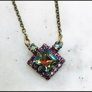 Sorrelli Jewelry - Sorrelli Volcano Crystal Square Necklace,NWT
